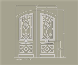 Elegant Entry Custom Design